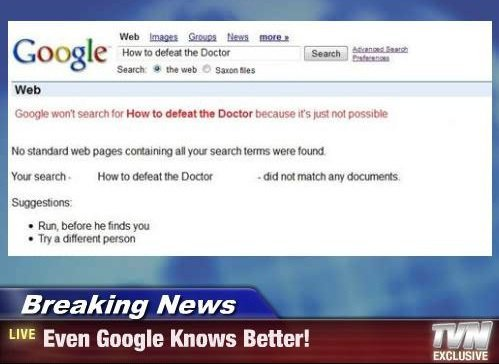 doctorwhoandthetardis:  How to the defeat via Google Search