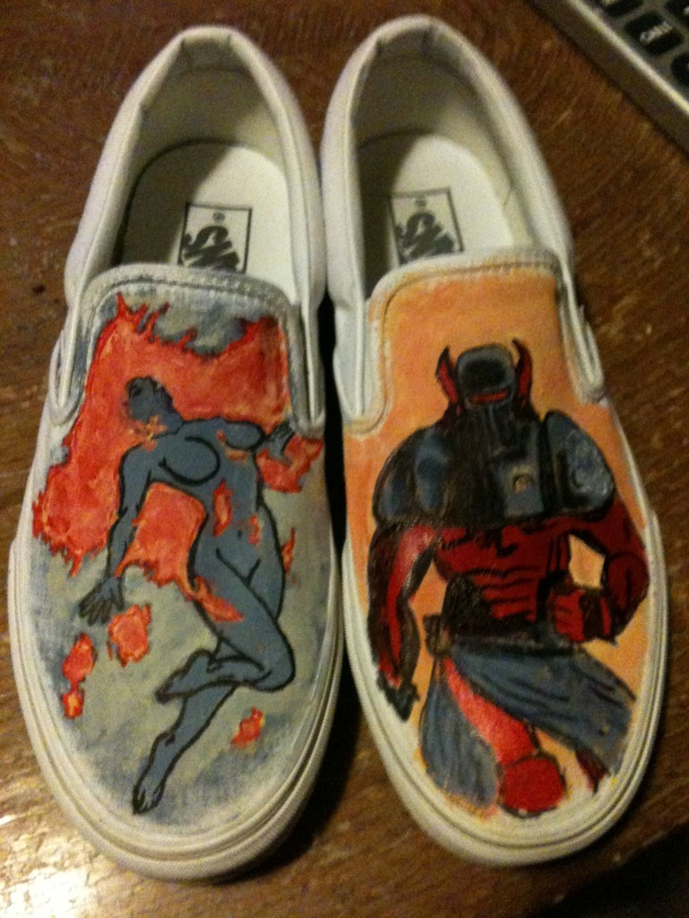 The Amory Wars inspired shoes that I made for Nessa Kilgannon Oh and I just saw she already posted about them here. I'm glad you like them, baby girl ;)
