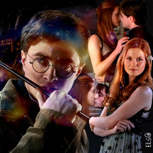 "fairylovedreams:  J.K. ROWLING interview: MA: Did Ginny send Harry the valentine?JKR: Yeah, bless her.MA: Was it a Tom Riddle thing, or Ginny Weasley?JKR: No, Ginny Weasley.MA: Well, she got paid back for it.JKR: [laughs] Eventually.MA: I think you set that up from the train compartment scene [in book one], where he was watching — all the relationships, that scene probably set it up.JKR: I think so. I hope so. So you liked Harry/Ginny, did you, when it happened?ES: We've been waiting for this for years!JKR: Oh, I'm so glad.MA: Oh my gosh, that kiss!JKR: Yeah.ES: It actually materialized!JKR: It actually happened, I know! I felt a little bit like that.MA: Had you been trying to get them —JKR: Well I always knew that that was going to happen, that they were going to come together and then part.ES: Were you always —–ing it? [We can't figure out what Emerson actually said here.]JKR: Well, no, not really, because the plan was, which I really hope I fulfilled, is that the reader, like Harry, would gradually discover Ginny as pretty much the ideal girl for Harry. She's tough, not in an unpleasant way, but she's gutsy. He needs to be with someone who can stand the demands of being with Harry Potter, because he's a scary boyfriend in a lot of ways. He's a marked man. I think she's funny, and I think that she's very warm and compassionate. These are all things that Harry requires in his ideal woman. But, I felt — and I'm talking years ago when all this was planned — initially, she's terrified by his image. I mean, he's a bit of a rock god to her when she sees him first, at 10 or 11, and he's this famous boy. So Ginny had to go through a journey as well. And rather like with Ron, I didn't want Ginny to be the first girl that Harry ever kissed. That's something I meant to say, and it's kind of tied in.One of the ways in which I tried to show that Harry has done a lot of growing up — in ""Phoenix,"" remember when Cho comes into the compartment, and he thinks, 'I wish I could have been discovered sitting with better people,' basically? He's with Luna and Neville. So literally the identical thing happens in ""Prince,"" and he's with Luna and Neville again, but this time, he has grown up, and as far as he's concerned he is with two of the coolest people on the train. They may not look that cool. Harry has really grown. And I feel that Ginny and Harry, in this book, they are total equals. They are worthy of each other. They've both gone through a big emotional journey, and they've really got over a lot of delusions, to use your word, together. So, I enjoyed writing that. I really like Ginny as a character. - Mugglenet/Leaky Cauldron, 2005"