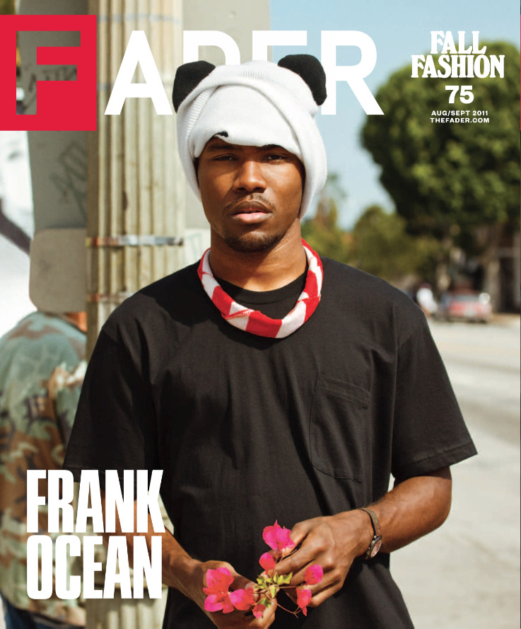 frankocean:  first cover. thanks Fader.