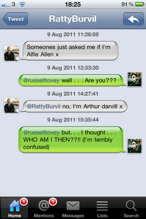 colfshair:  Arthur Darvill and Russell Tovey ladies and gentlemen.