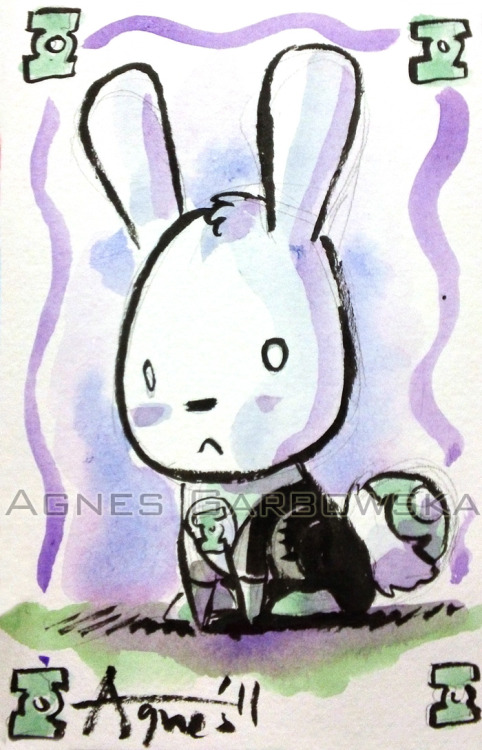 Here is a cute GreenLantern Bunny Postcard Commission from the SDCC I did. Enjoy!