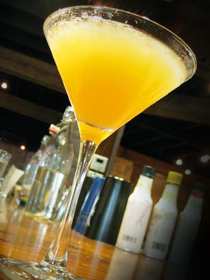 The Hummingbird cocktail is based on a classic polish drink the Tatanka, the Native American word for Buffalo. Want to make it yourself? The Wrecking Bar Brewpub has been kind enough to share their recipe with us! Hummingbird+ 1 1/2 oz Bison Grass vodka+ 1 1/2 oz fresh pressed apple juice+ 3/4 oz lemon juice+ 2 spoons Runny HoneyShake all ingredients in a Boston shaker and serve straight up in a chilled martini glass. Finish with 2 dashes Fees Rhubarb Bitters and an edible flower for garnish. Photo credit: Lush Lady