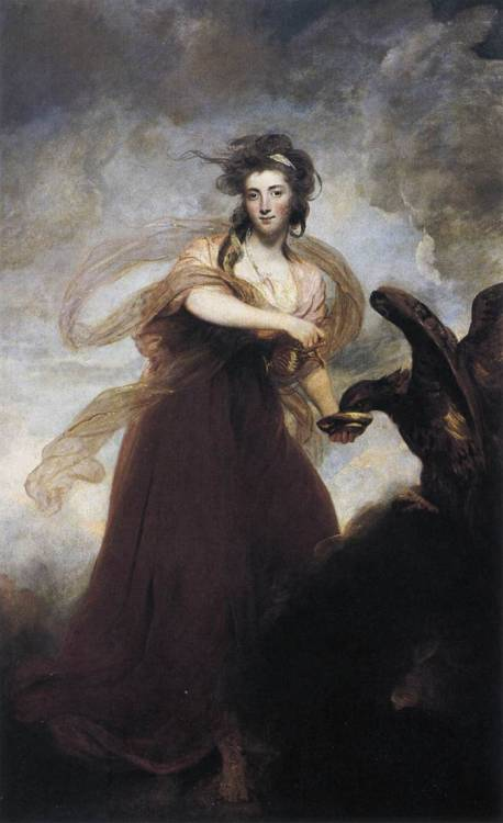centuriespast: 1785 Sir Joshua Reynolds (English, 1723-92) ~ Mrs. Musters as Hebe; oil on canvas, 239 x 144.8 cm; Iveagh Bequest, Kenwood House, London
