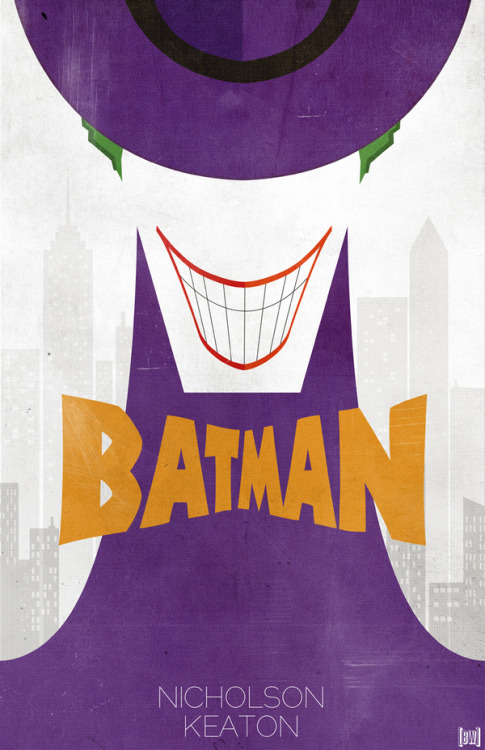 timetravelandrocketpoweredapes:  Minimal Poster: Batman - By: Ben Whitesell