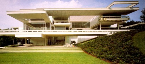 The Bass Residence Fort Worth, TX Early 1970s Architect Paul Rudolph