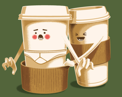 threadless:  Veni, Vidi, Venti by  d3d aka Leon Ryan and nathanwpyle at gmail.com aka Nathan W. Pyle is up for voting.