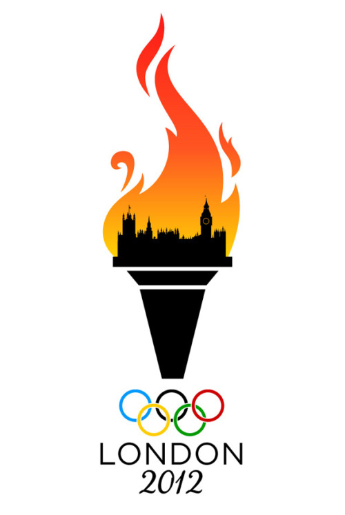 laughingsquid:  London's Burning 2012 Olympic Games Logo