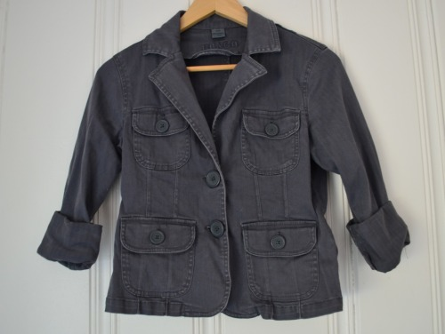 Grey Herringbone Jacket Size M $10