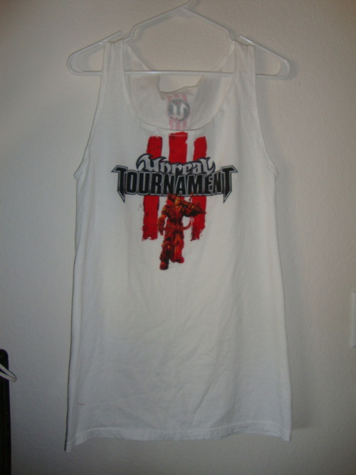 Unreal tournament III long fit tank top, coming soon to Shinshay Originals.