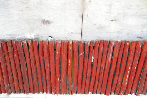 Photo of painted wood fence from Mexico trip. If you love textures and you've never been to Mexico, you're missing out.