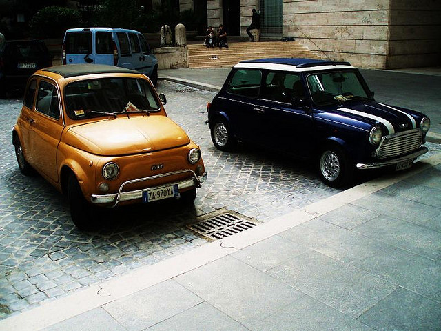 | ♕ |  Fiat 500 + Mini - Rome  | by matutino!