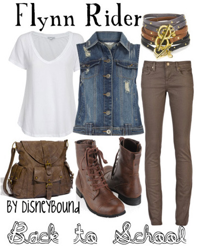 disneybound:  Trend: Denim Vest This look can be both grungy and preppy depending on how you rock it. A definite must have staple for this fall!