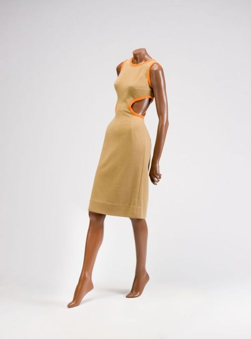 A sexy Rudi Gernreich shift dress with side cutouts, 1961.