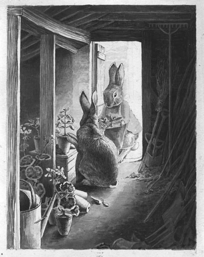 "alpenstrasse:  Beatrix Potter, ""The Rabbits' Potting Shed"""