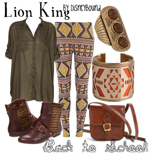 disneybound:  Trend: Prints Mix it up with several different prints in one look!
