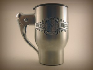 Scallywags Coffee Brake Mug = brake + coffee mug.  $20.  Via @UrbanVelo