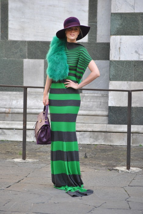 Green VS. stripes (via theglitterguide:  (via Style / courtney ann)