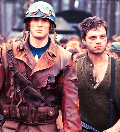 blackwingedcas:  Steve & Bucky  These two are my BrOTP.