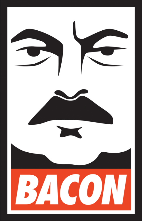 Ron Swanson-ified Shepard Fairey Obey