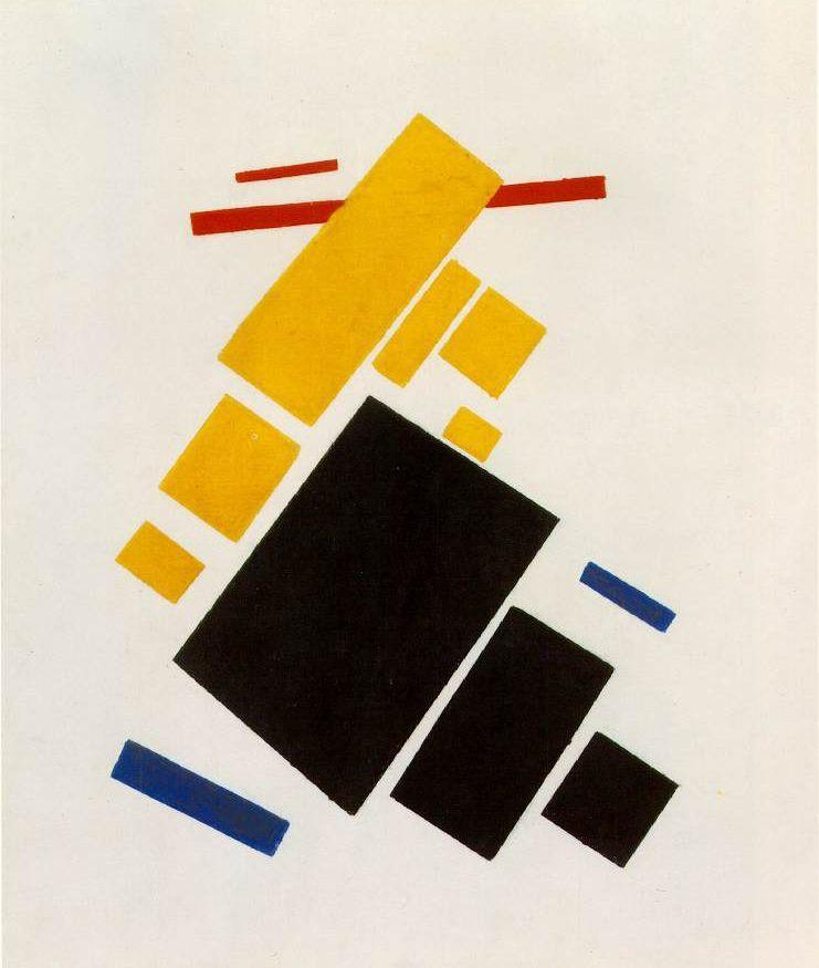 cavetocanvas:  Suprematist Painting: Airplane Flying - Kazimir Malevich, 1915
