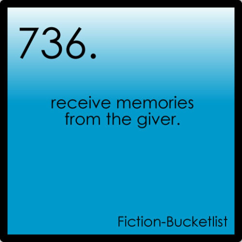 Idea From ilovetaders and booksinlove The Giver