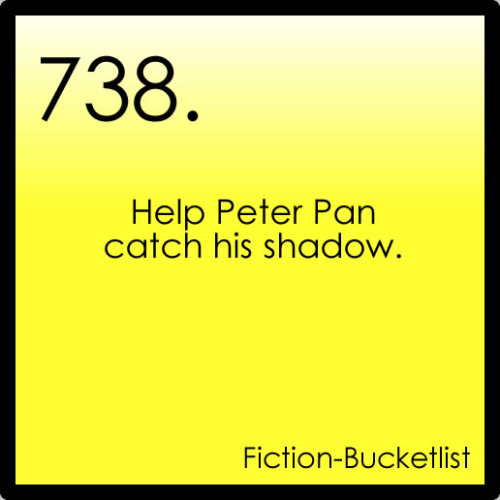 Idea From i-am-margo-roth-spiegelman  Peter Pan