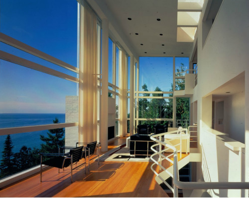 The Douglas House Harbor Springs, MI Interior View Architect Richard Meier
