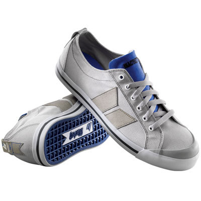 Macbeth Eliot Dove Grey/Cobalt Canvas/Antique Synthetic Vegan Shoes