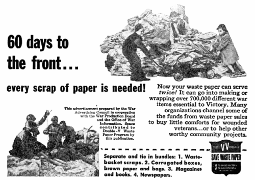 Recycle for Victory, 1945