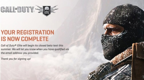 Call of Duty Elite Closed Beta Testing.