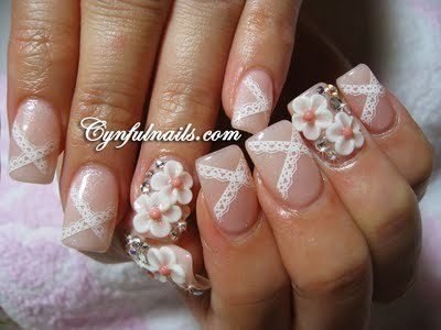 Loving these nails! Perfect for a wedding! How are you brides doing your nails for the big day?