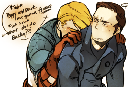 "minuiko:  teaat2am:  ""… Y'know Steve, this stopped being cute after you… joined the army"" what am I even drawing  cuuute  (I promise the next thing I upload will be my own ahah)"