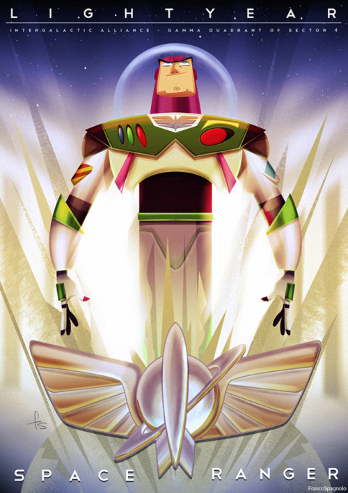 ianbrooks:  Buzz Lightyear by Franco Spagnolo For the August 2011 edition of the Pixar Times.  Artist: deviantart / blogspot