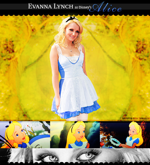 She would be thee perfect Alice. :3