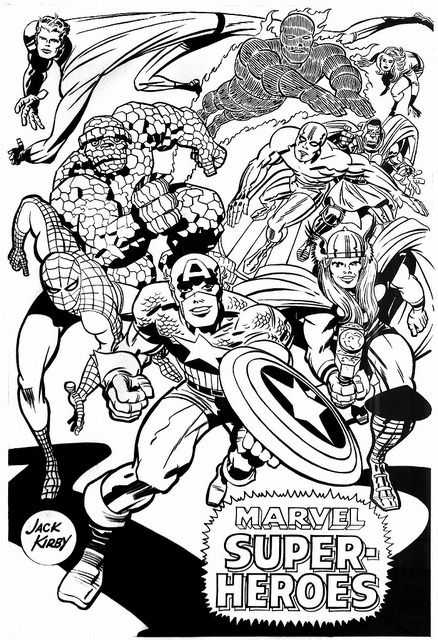 Poster from The Merry Marvel Marching Society.
