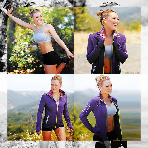 mybonesbleedforyou:  chelseaalysse:   Hilary Duff for Danskin: Move For Change  She looks great!  Agreed.  Such cute workout gear!