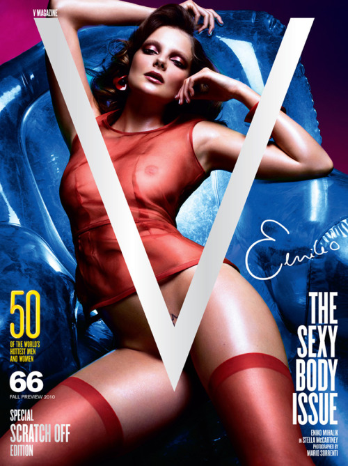 Eniko Mihalik for the special edition v-magazine (one of four covers by mario sorreni) i have a love/hate relationship with eko miko as she is known, i love her for some of her environmental awareness work, her modelling but hate her for sleeping with the RULER OF MY VAGINA Alexander Skarsgard.
