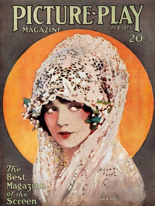 mothgirlwings:  Lila Lee - Picture Play magazine (1925) Artist:  Henry Clive