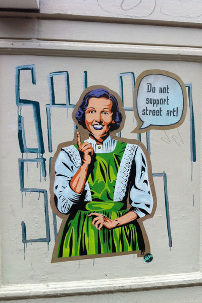 """Do not support Streetart"" (via Hamburg Schanzenviertel) (Image: T. Schneider)"