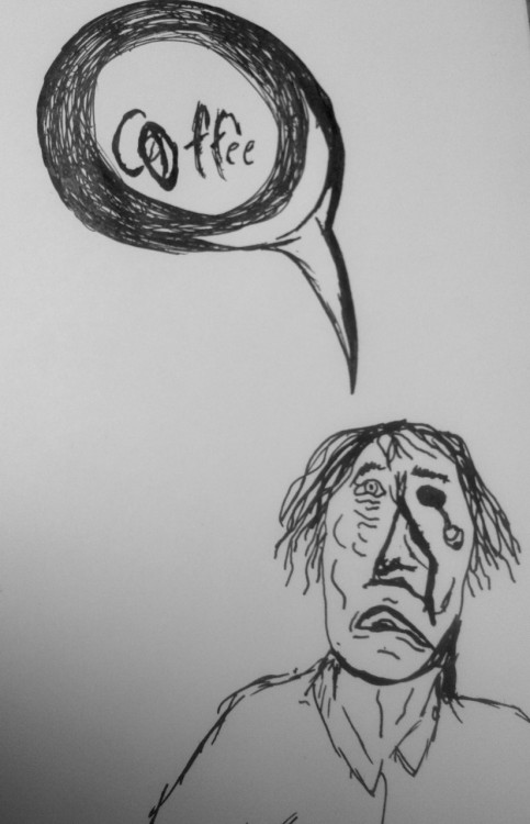 Coooofffffffeeeeee…. to hell with brains. my zombie wants coffee, somebody get this zombie a latte