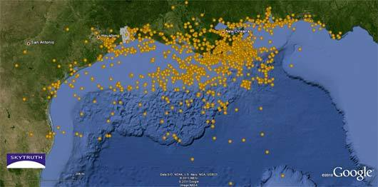 mothernaturenetwork:  It's business as usual in the Gulf of Mexico. But in the year since the Gulf oil spill was stopped, there have been more than 5,000 new oil and hazardous materials spills in the Gulf region. This is a map of the 3,000 reports that can be charted. Read more.