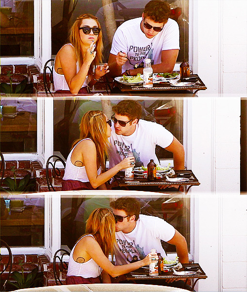I'm not a fan of Miley, but her boyfriend is hot and they are just so sweet
