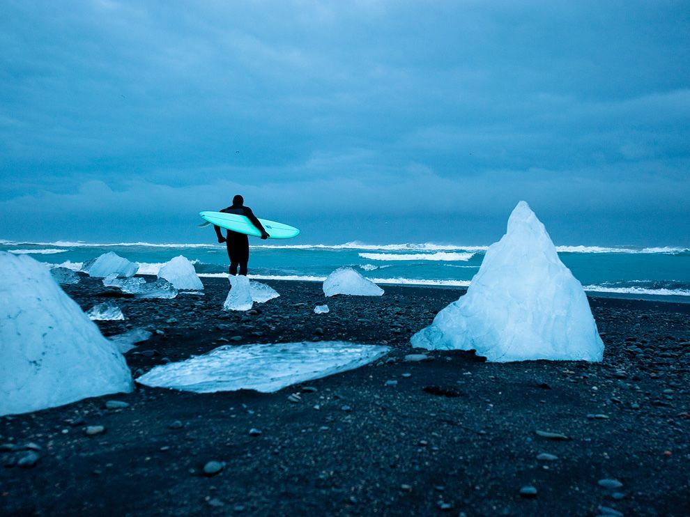Cold Water Surfing, Iceland Photograph by Chris Burkard