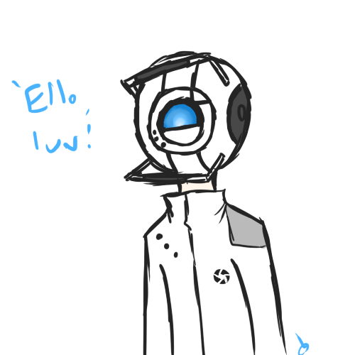 This is my finalized design for humanoid Wheatley.I'm a funny person.
