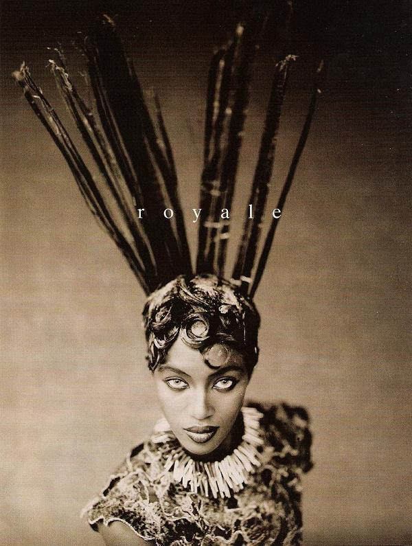 Naomi Campbell photographed by Paolo Roversi - Vogue Italia: 1996 - Royale
