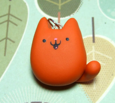 Kawaii Kitty Cat Pendant - Kawaii Jewelry Charm by the Happy Acorn