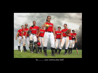 The Carolina Bombs softball team