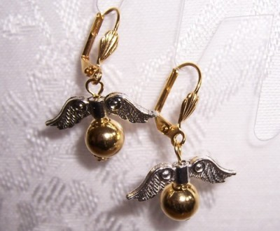 Harry Potter Inspired Snitch Earrings