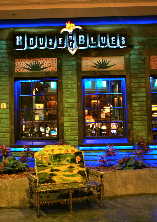 House of Blues, Las Vegas, NV The House of Blues at Mandalay Bay in Las Vegas. During my second day in Vegas, I went here in search for a night life in replacement for bars/clubs because I was 3 weeks short of being legal but then, it was closed. Nightlife goes down the drain.  On a lighter note, I enjoyed walking along the strip, seeing all the lights and the magic of the sin city.
